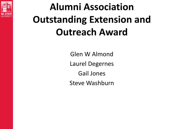Alumni Association Outstanding Extension and Outreach Award