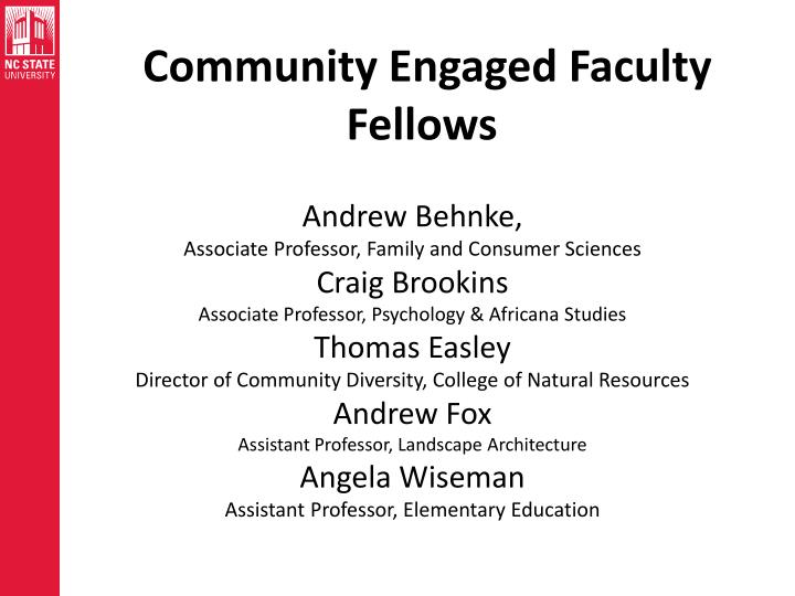 Community Engaged Faculty Fellows