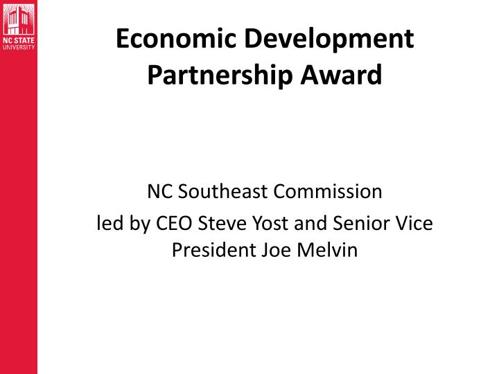 Economic Development Partnership Award
