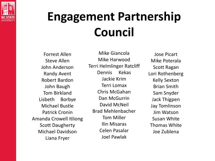 Engagement Partnership Council