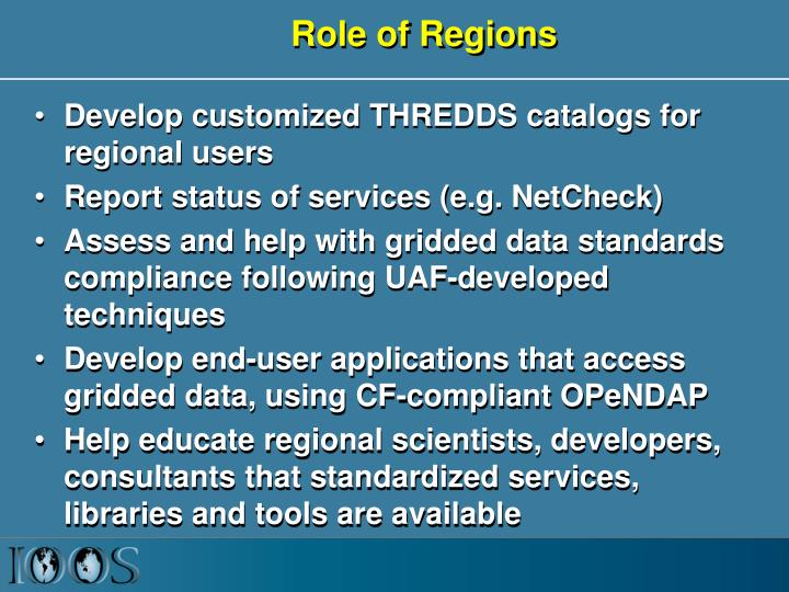 Role of Regions
