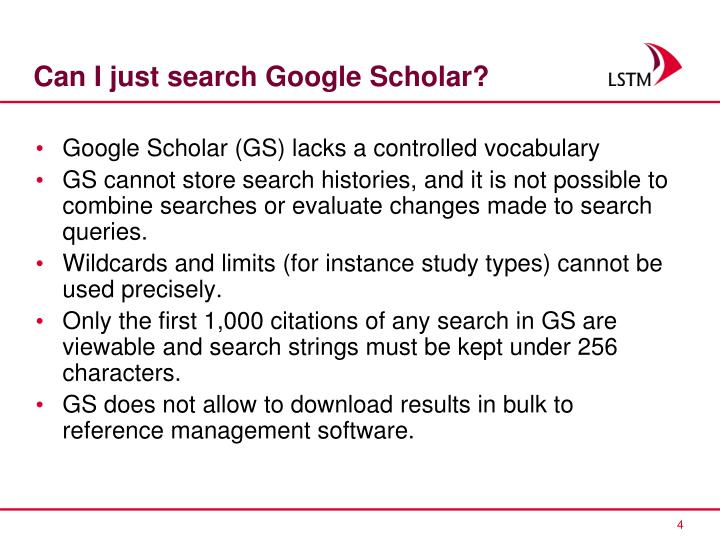 Can I just search Google Scholar?