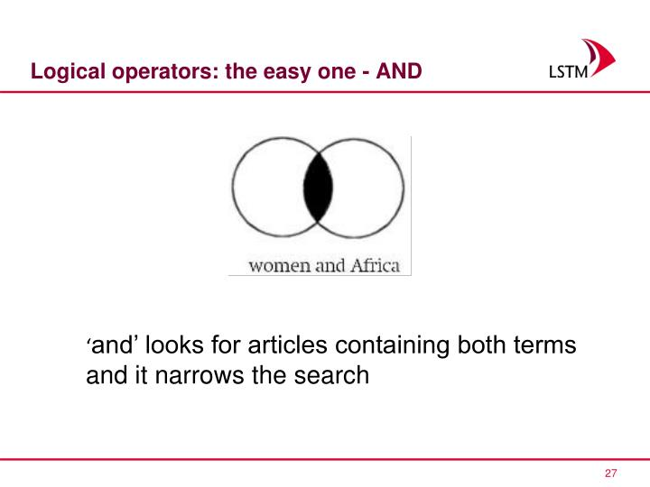 Logical operators: the easy one - AND