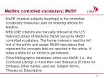 medline controlled vocabulary mesh