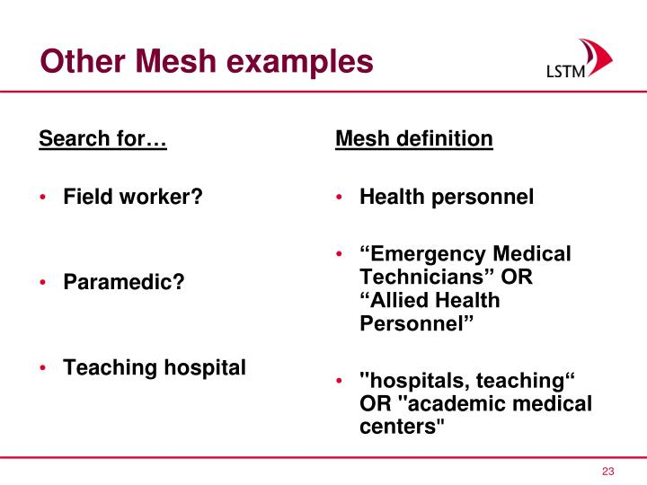 Other Mesh examples