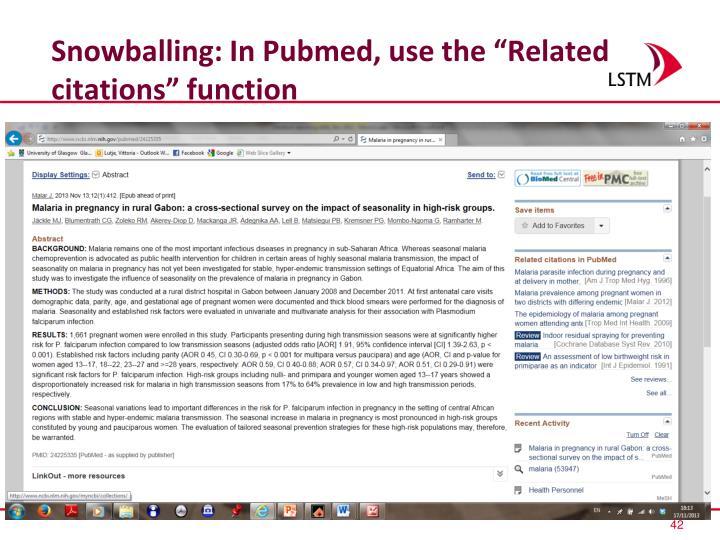 Snowballing: In