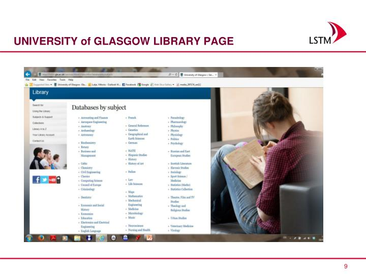 UNIVERSITY of GLASGOW LIBRARY PAGE