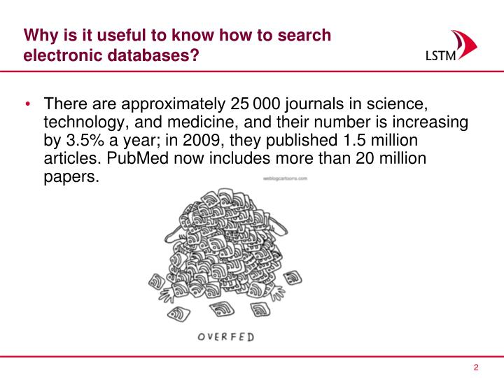 Why is it useful to know how to search electronic databases?