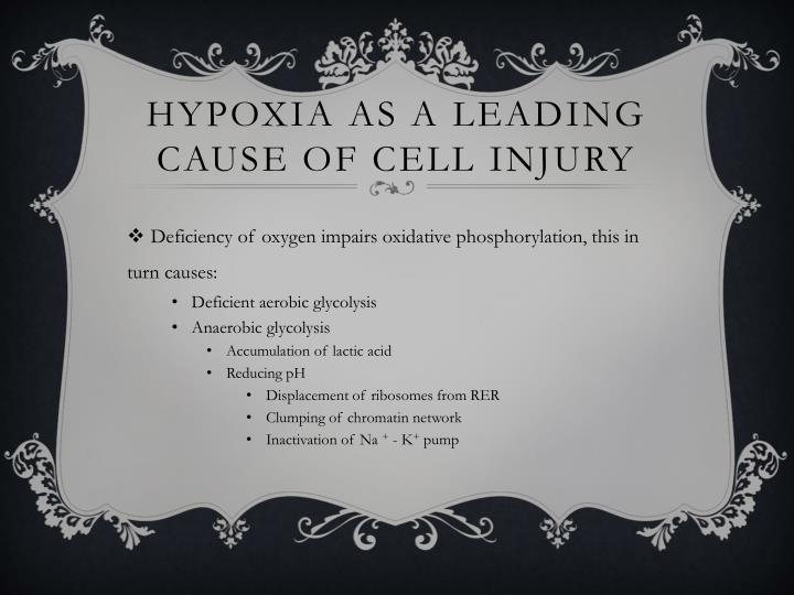 Hypoxia as a leading cause of cell injury