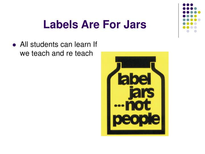 Labels Are For Jars