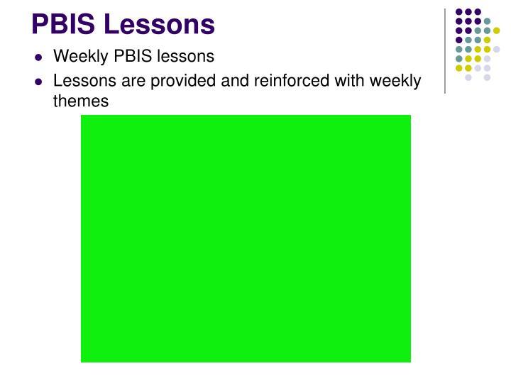 PBIS Lessons