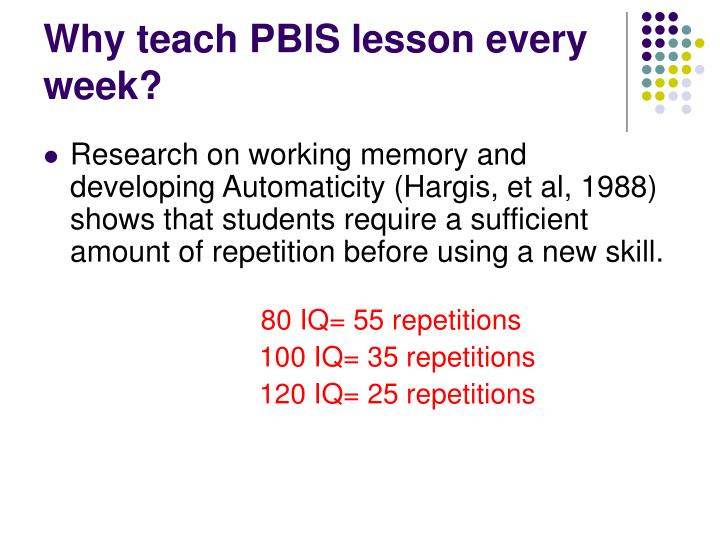 Why teach PBIS lesson every week?
