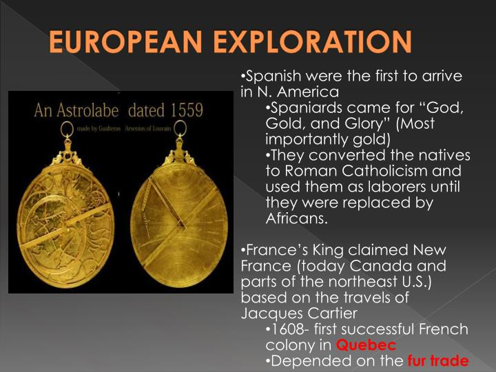 EUROPEAN EXPLORATION