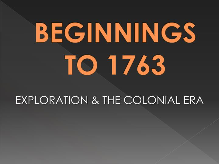 Exploration the colonial era