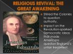 religious revival the great awakening
