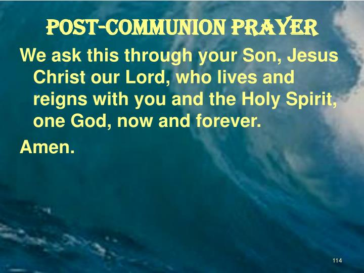 POST-COMMUNION Prayer