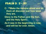 psalm 9 9 20 cev5