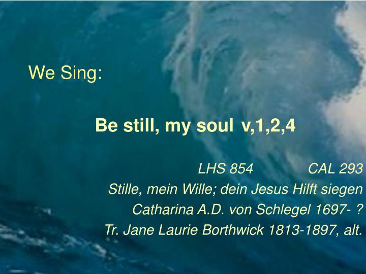 We Sing: