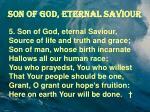 son of god eternal saviour2