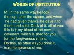 words of institution1