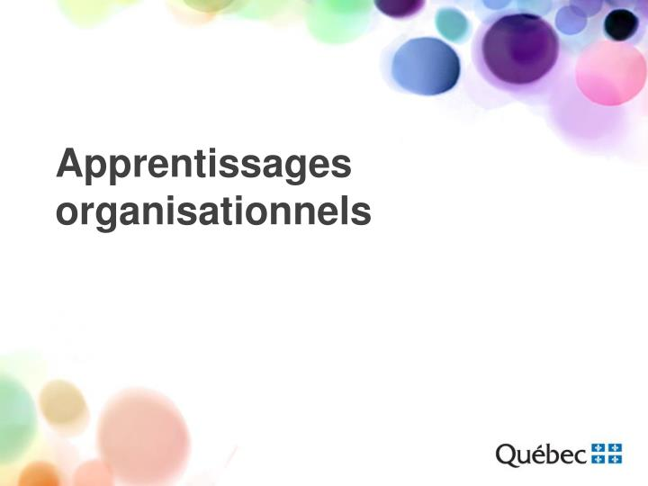 Apprentissages