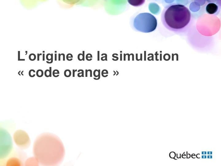 L'origine de la simulation
