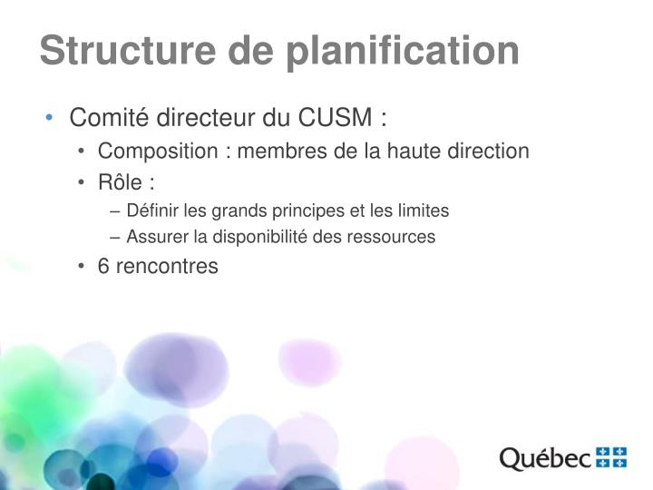 Structure de planification
