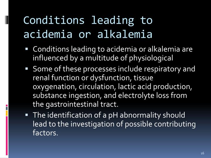 Conditions leading to
