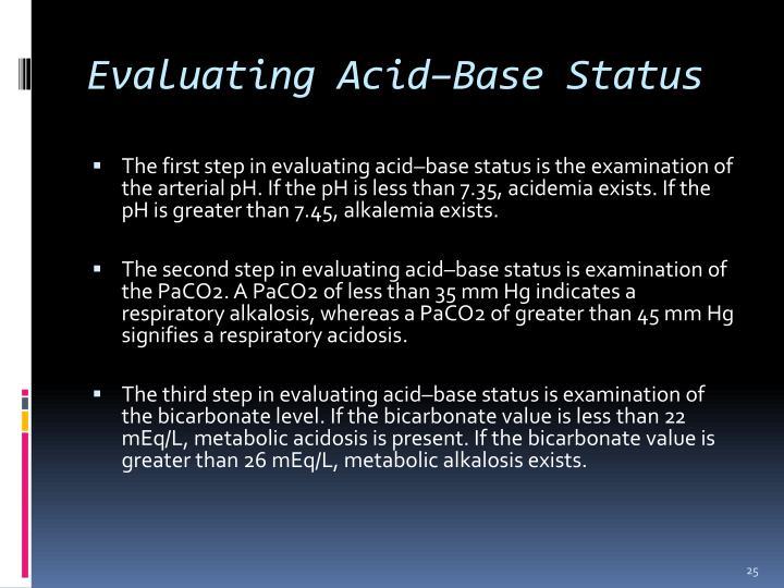 Evaluating Acid–Base Status