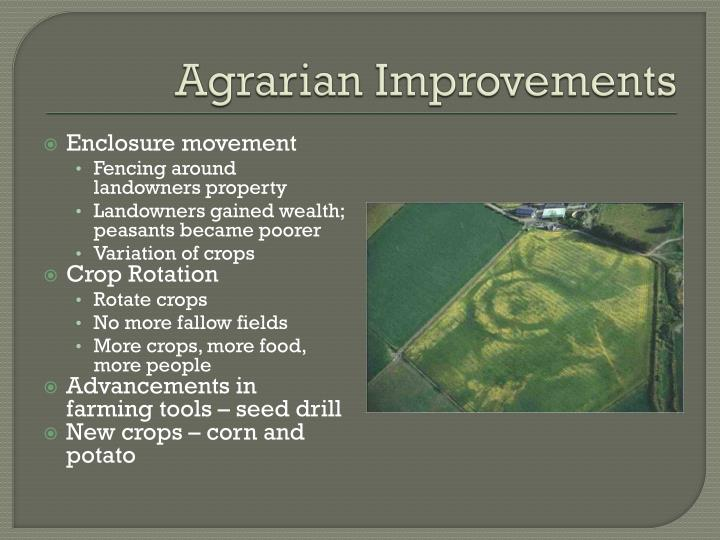 Agrarian Improvements