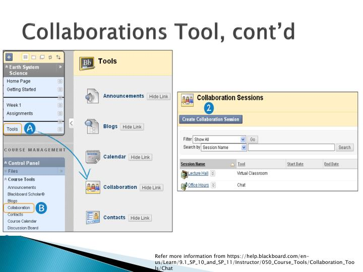 Collaborations Tool, cont'd