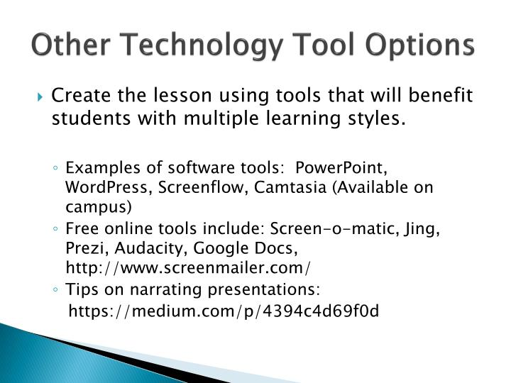 Other Technology Tool Options