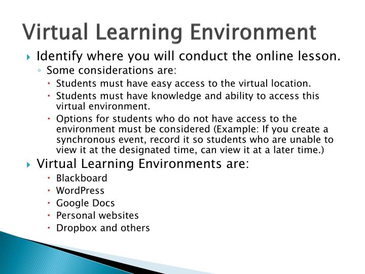 Virtual Learning Environment