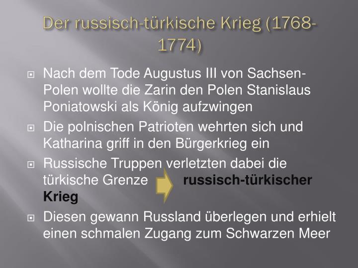 Der russisch-türkische Krieg (1768-1774)