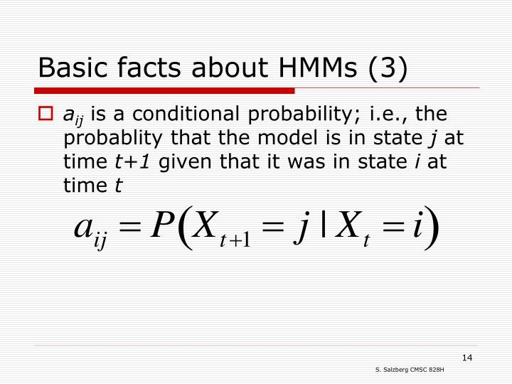 Basic facts about HMMs (3)