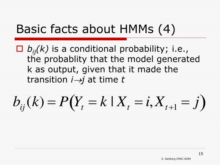 Basic facts about HMMs (4)