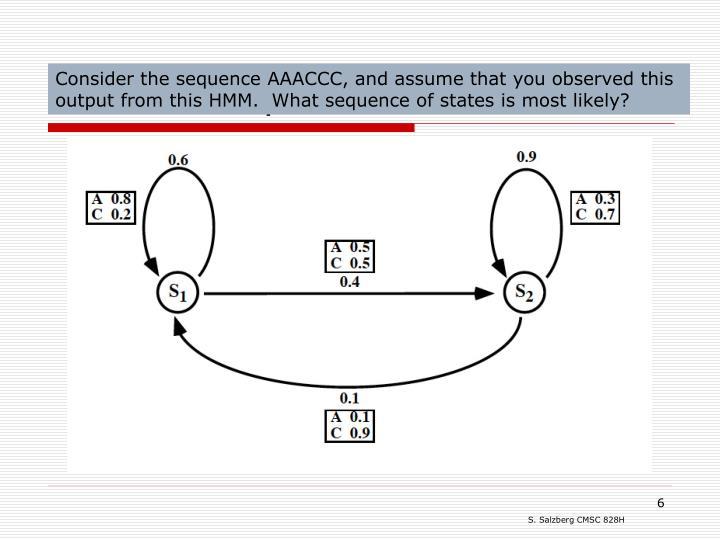 HMM example: DNA