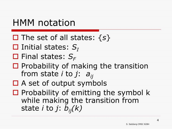 HMM notation