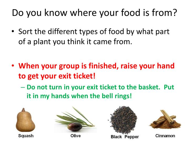 Do you know where your food is from?