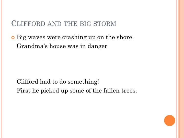 Clifford and the big storm