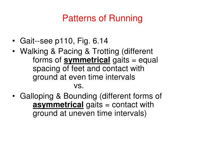 Patterns of Running