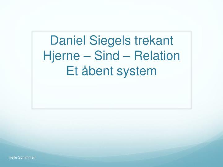 Daniel Siegels trekant