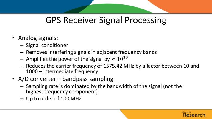 GPS Receiver Signal Processing