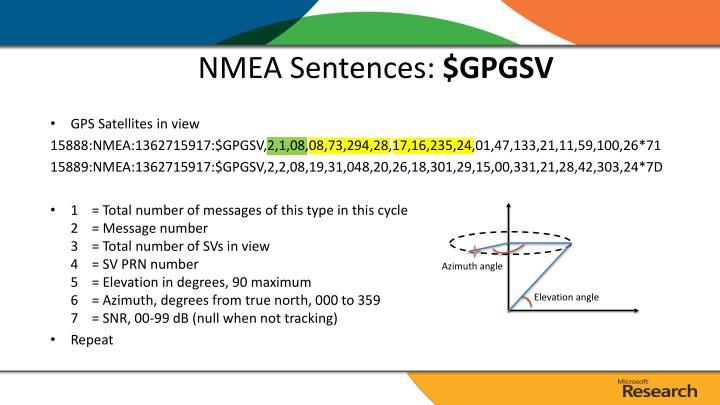 NMEA Sentences:
