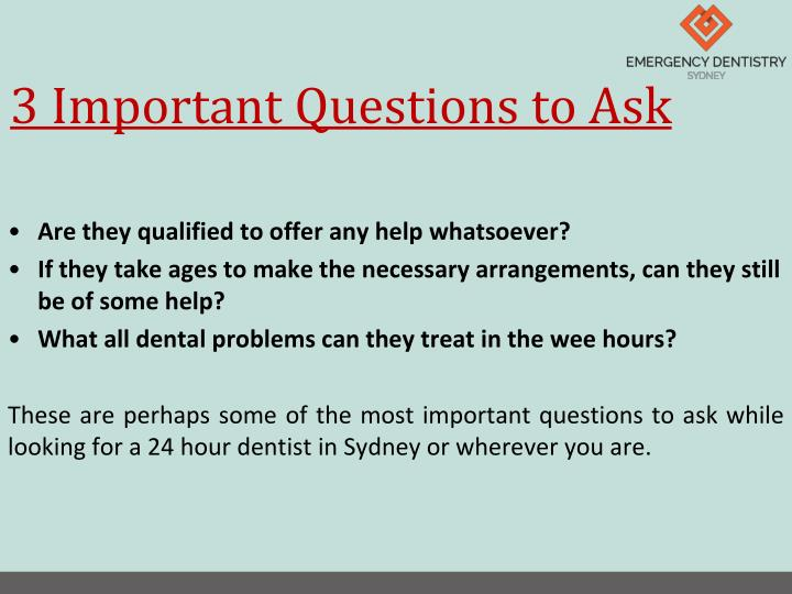 3 Important Questions to Ask