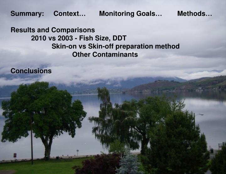 Summary:     Context…       Monitoring Goals…