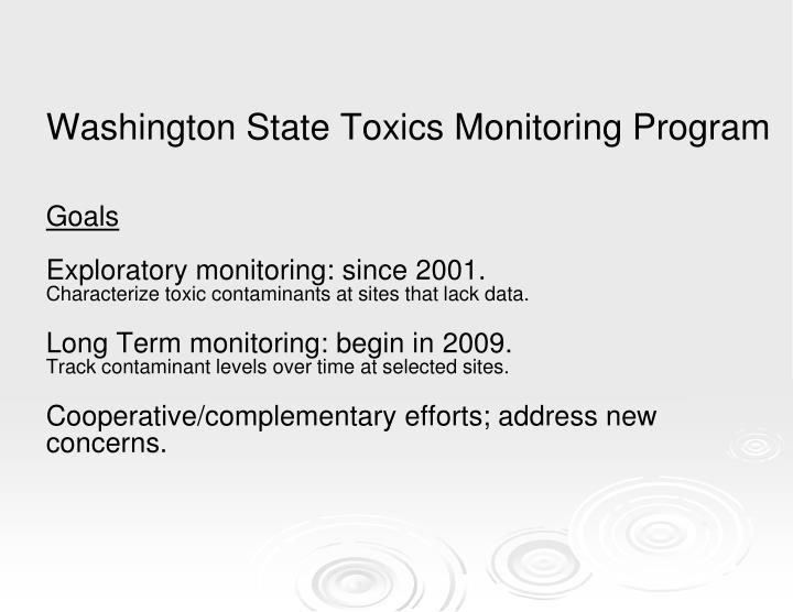 Washington State Toxics Monitoring Program