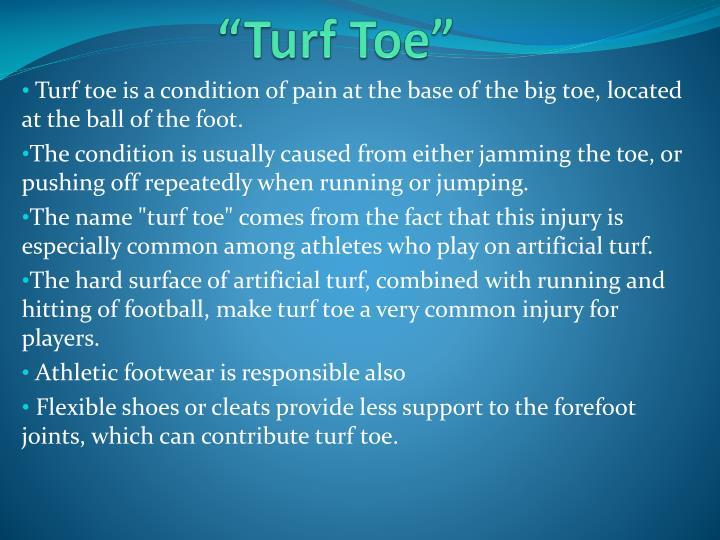 """Turf Toe"""
