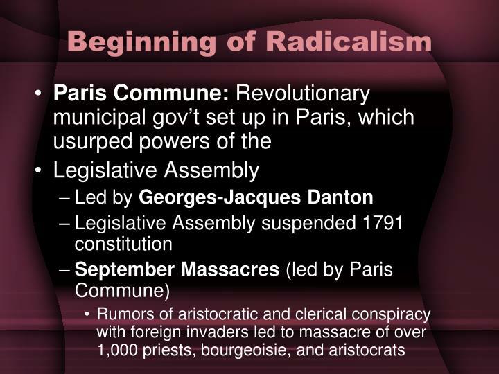 Beginning of Radicalism