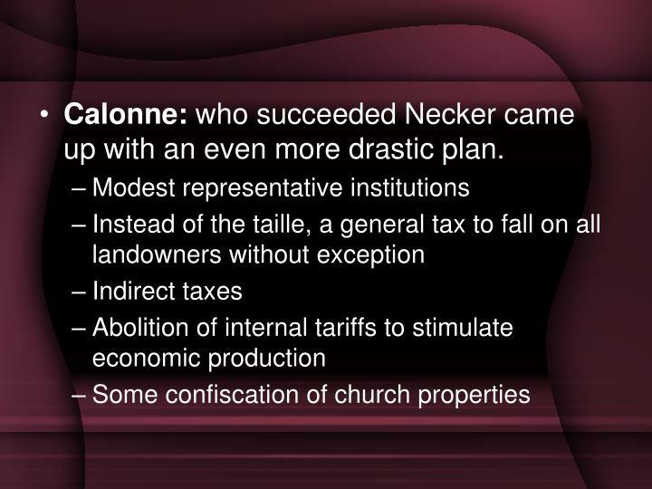 Calonne: